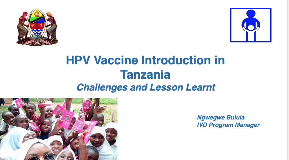 Text: HPV Vaccine Introduction in Tanzania - Challenges and Lesson Learnt
