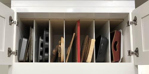 overhead shelf organization