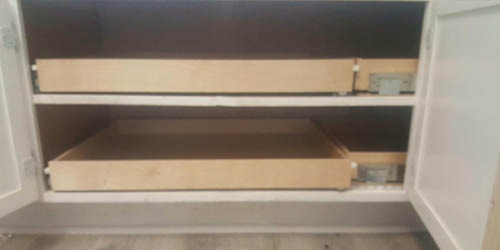 pull out shelves flat