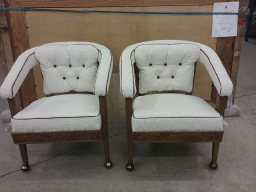 In Manitowish Waters WI restored sentimental oak chairs