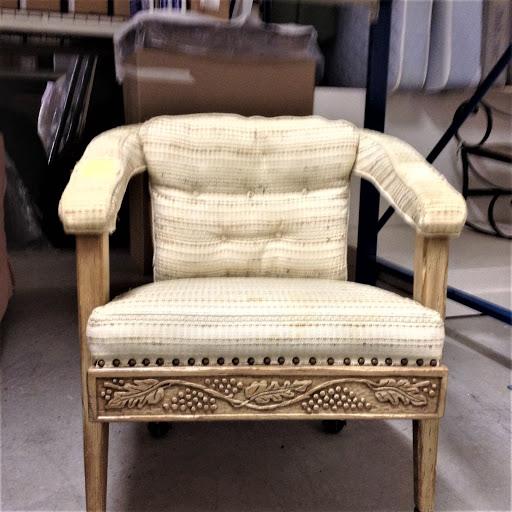 Sentimental oak chair before restoration in Manitowish Waters WI