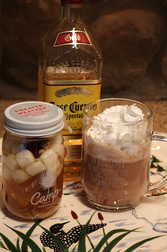 Winter cocktail kit in a mason jar