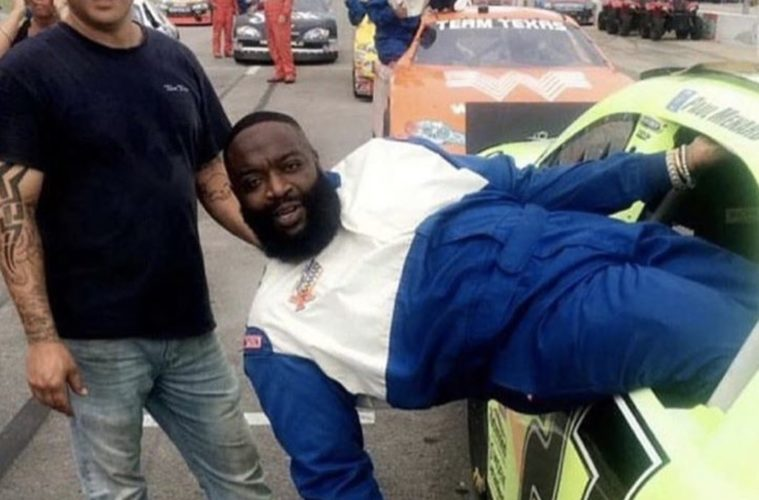 Rick Ross In a Race Car