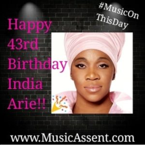 India Arie_Music On This day