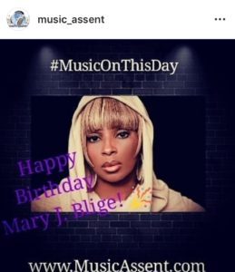 Mary J Blige Happy Birthday