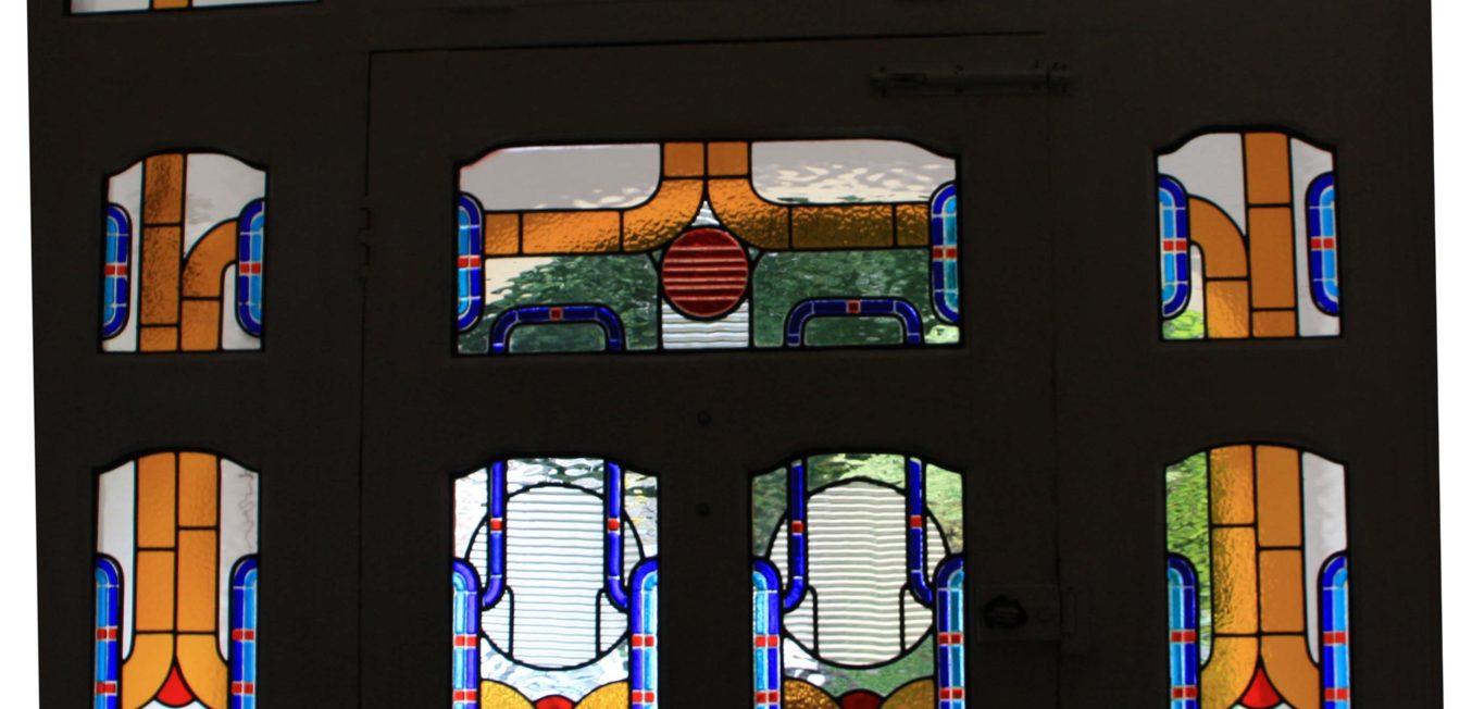 1930's Art Deco Entrance Door Glass-work.