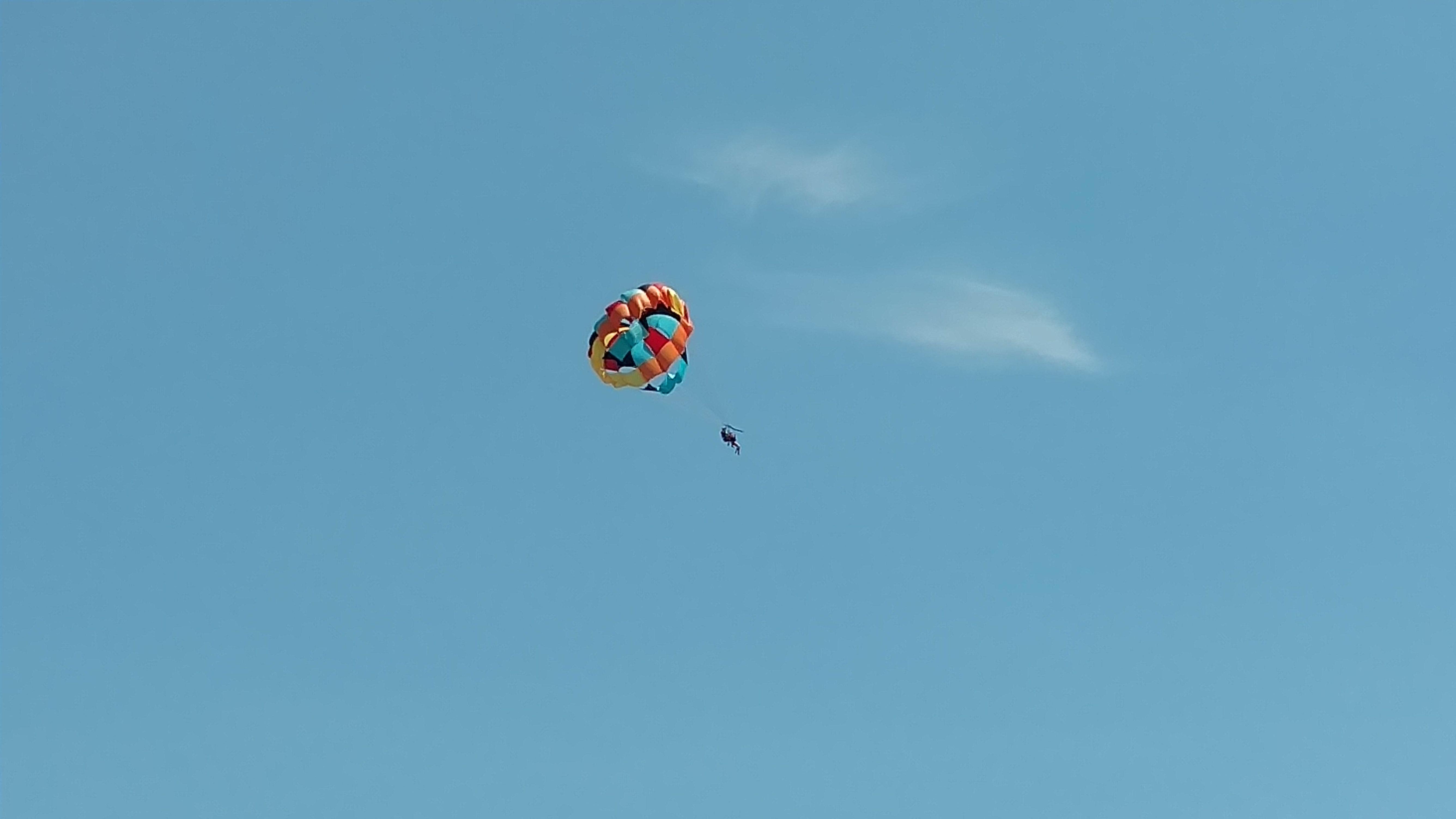 Parasailing over Grand Lake