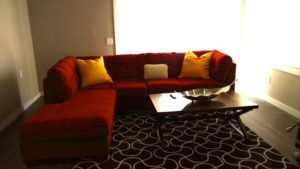 Monkey Island Gray Cabin - Living room