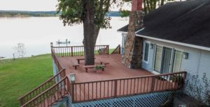 Aspinwall Lake view from deck