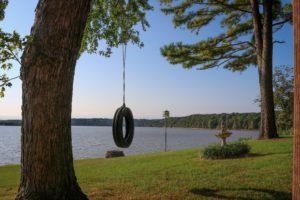 Aspinwall - tire swing by the lake