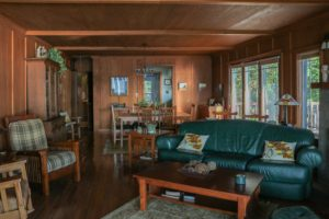 Aspinwall - living room with fire place