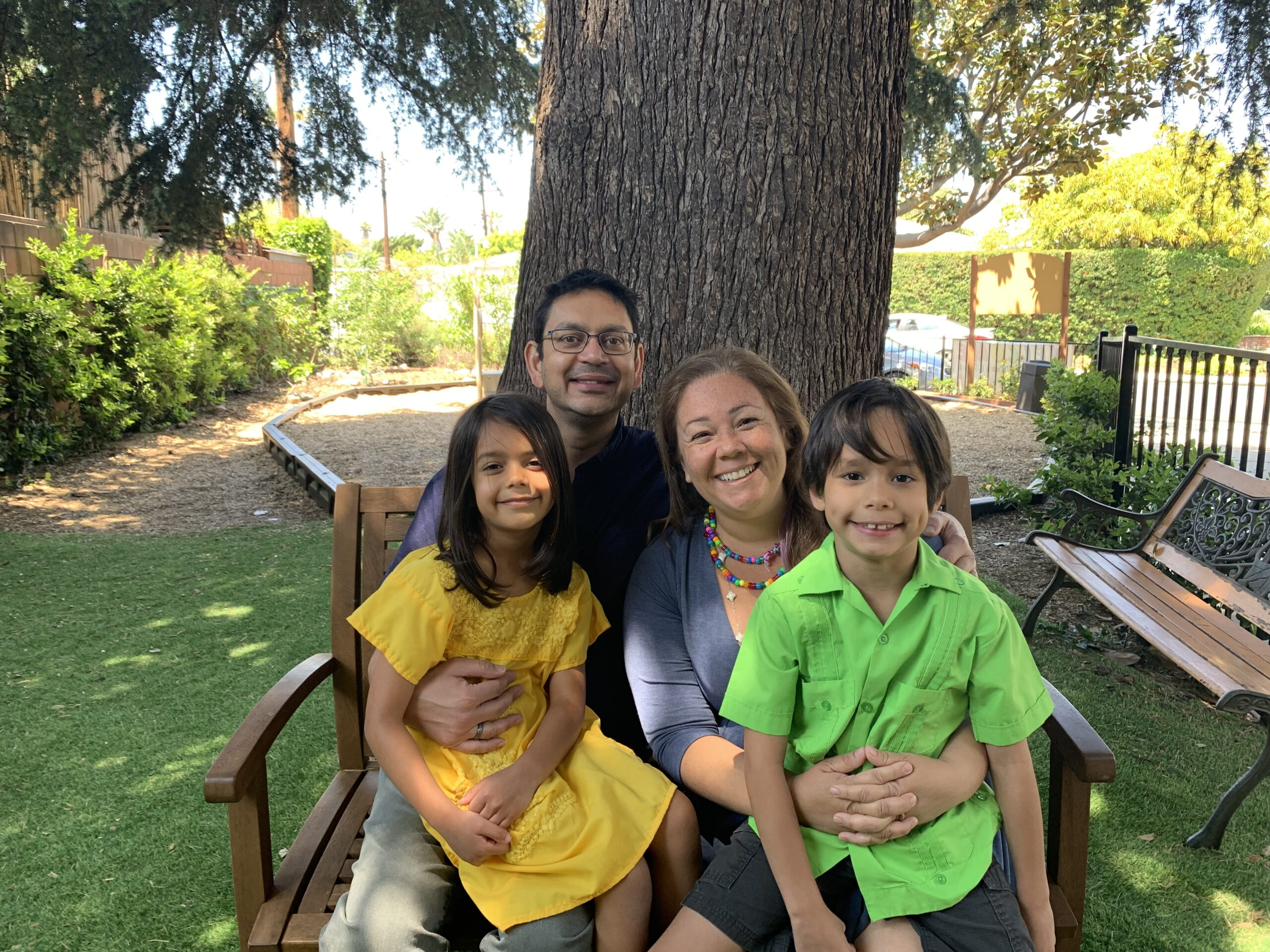 Picture of a family of four