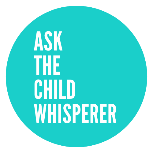 teal round logo for Ask The Child Whisperer