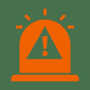 Orange exclamation mark