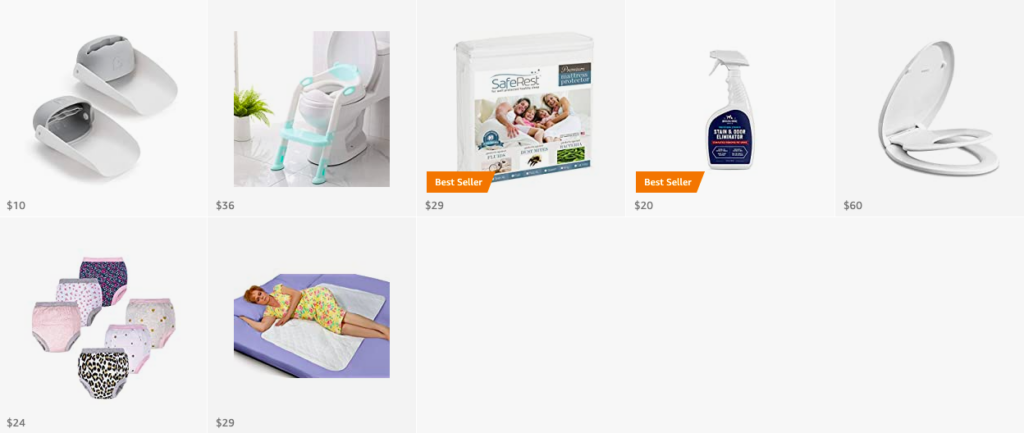 Amazon list: Toilet learning must haves