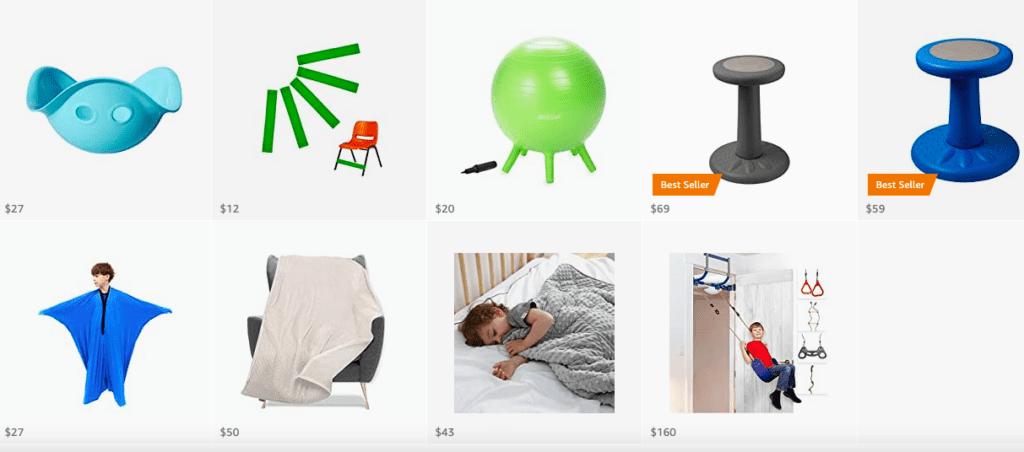 Amazon store: sensory needs items