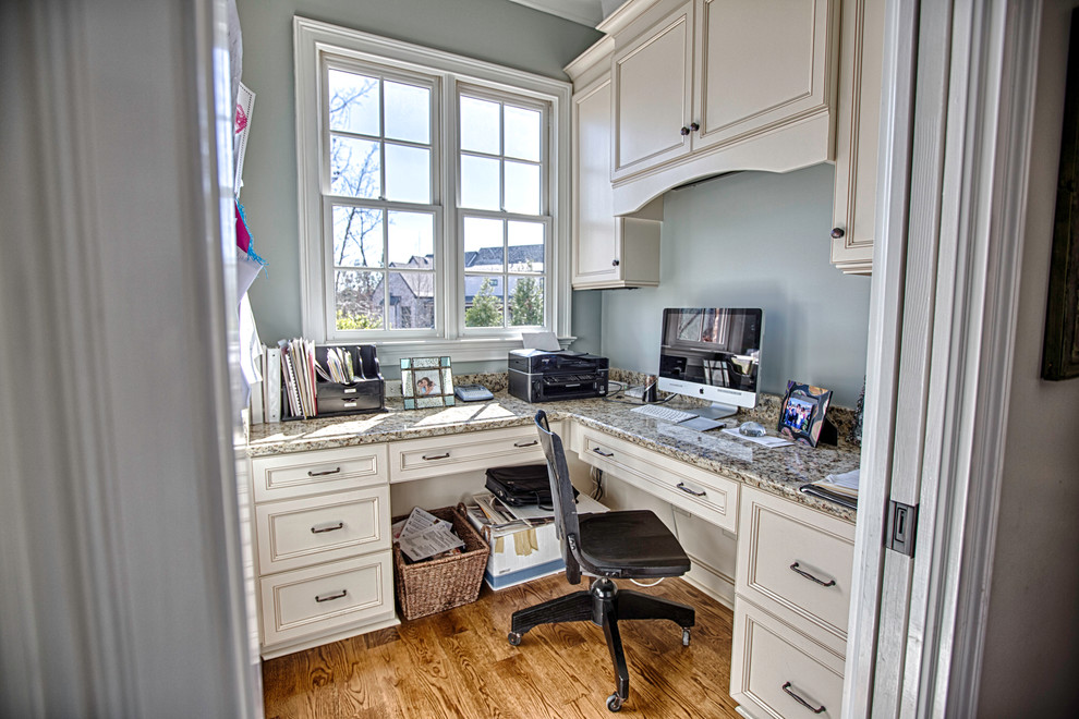 Home Office with custom cabinet space