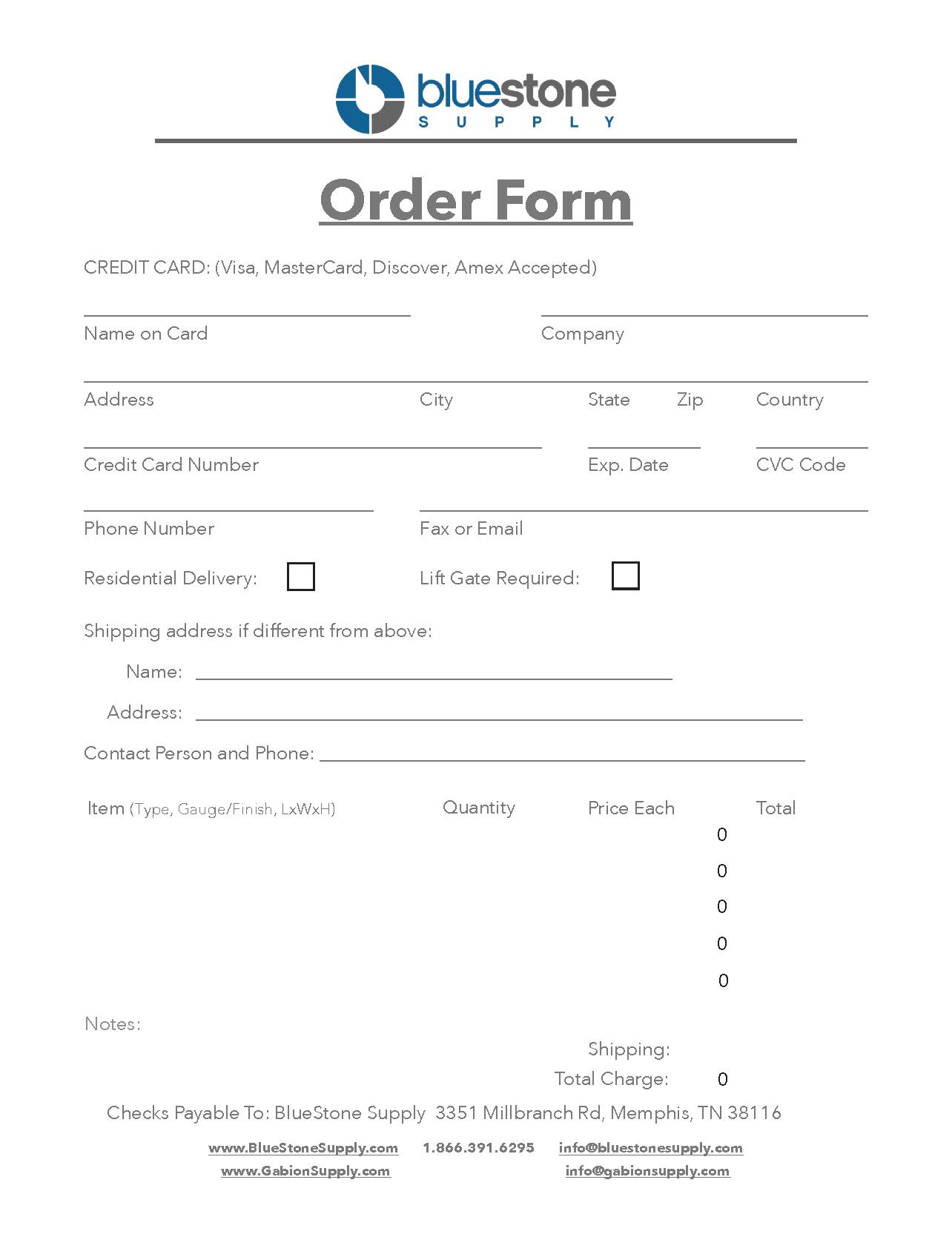 Order Form 2020 image