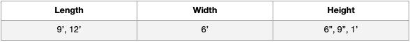 DuraFlex Mattress Standard Sizes