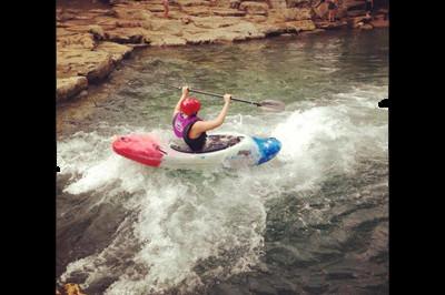 Brooke Artesi kayaking race at Extremity Games 2013 - Sunshine Prosthetics and Orthotics, Wayne NJ