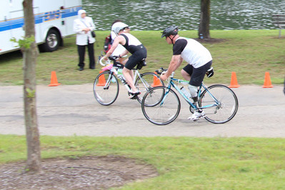 Lincoln Park Triathlon 2013 - bike leg of race - Team Sunshine members - Sunshine Prosthetics and Orthotics, Wayne NJ