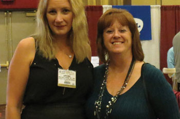 Brooke Artesi with Kathy Mascola, president of NJAAOP at the Annual Meeting in Nov. 2014