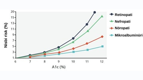 Hemoglobin A1c düzeyleri ve uç organ hasarları