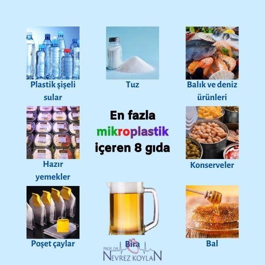 En fazla mikroplastik içeren gıda ürünleri