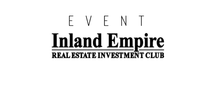 Jeff Pierce Presenting @ Inland Empire Real Estate Investment Club – OCT. 24th