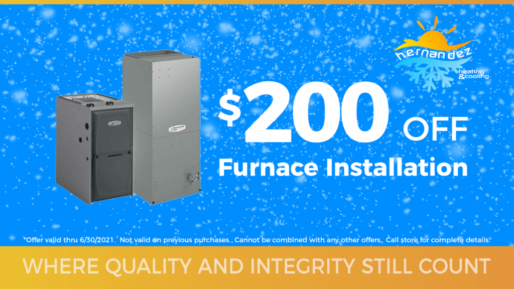 $200 off furnace installation