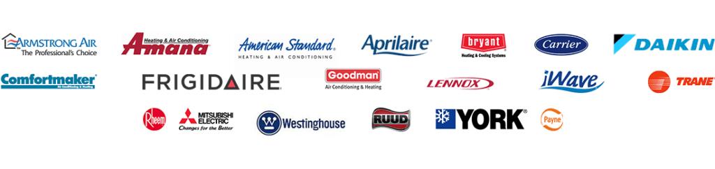 quality HVAC brands we service