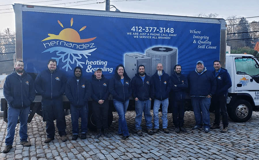 hvac team of installers