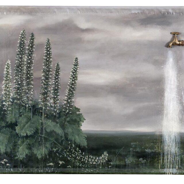 ACANTHUS Óleo y objeto sobre tela Oil and object on canvas 90 x 140 cm