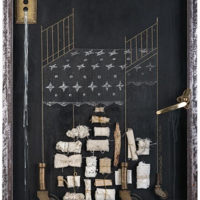 HOARDING Óleo sobre madera y objeto Oil on wood and object 82 x 61 cm
