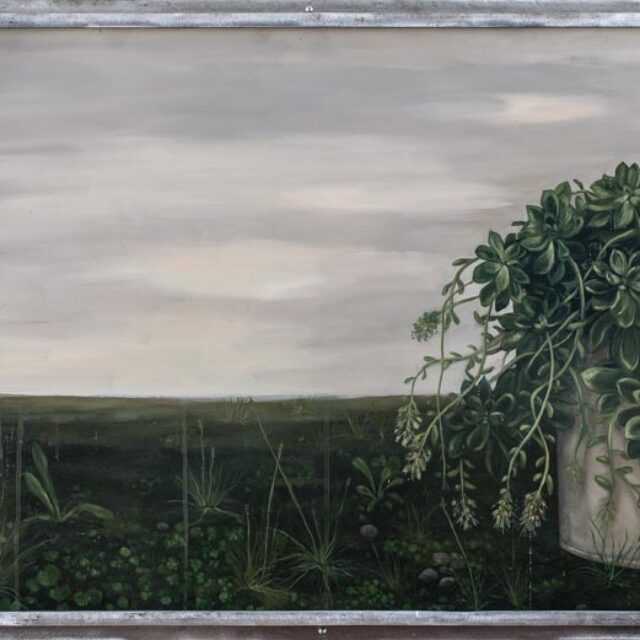 MIRAGE Óleo sobre madera y objeto Oil on wood and object 71 x 150 cm