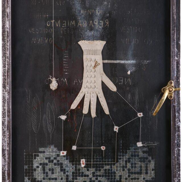 REPAIR Óleo sobre madera y objeto Oil on wood and object 82 x 61 cm