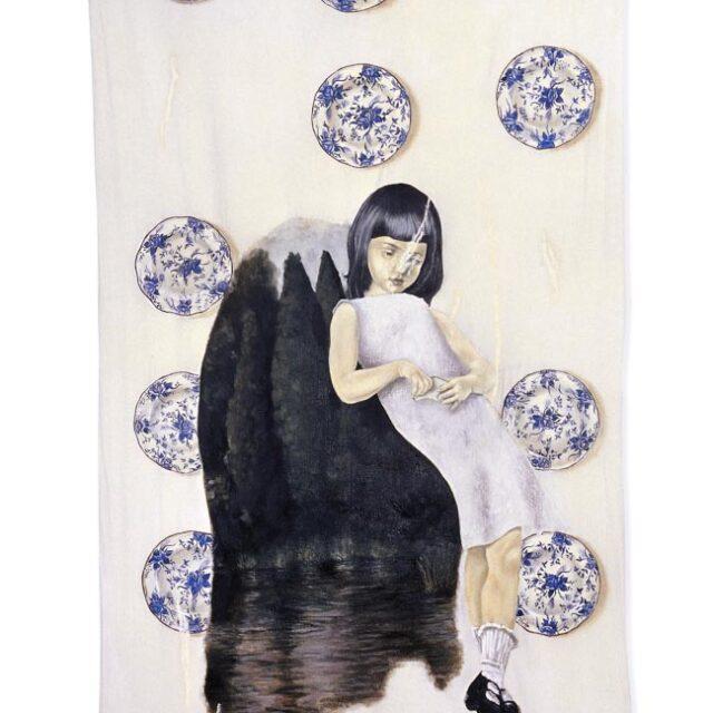 BROKEN DISHES Óleo sobre tela Oil on canvas 186 x 100 cm