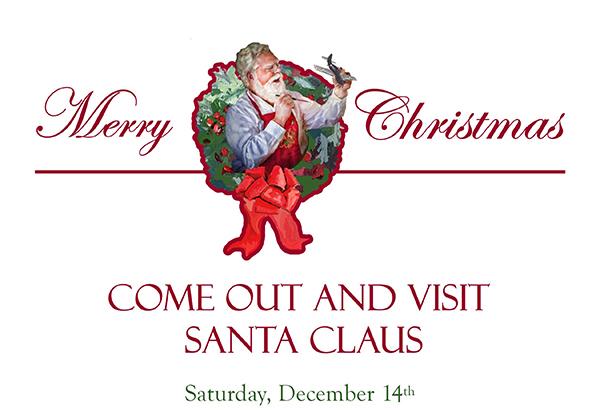 Come See Santa Claus & Military Dog Demo Dec 14th