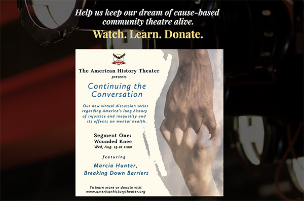 American History Theater online video series –  Continuing the Conversation
