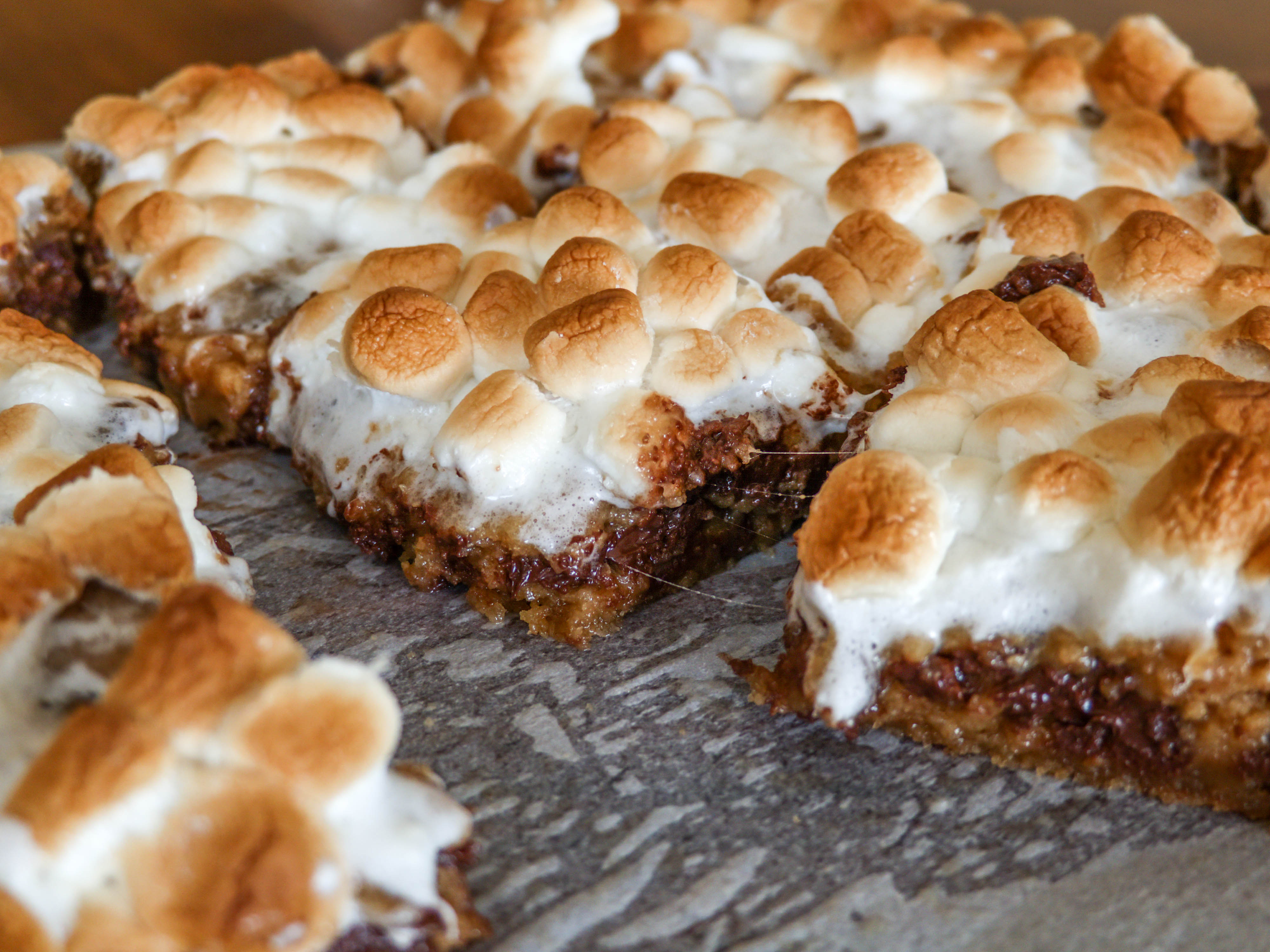 Cannabis Infused S'mores Cookie Bars
