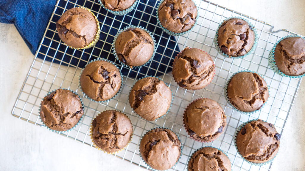 Mocha Chocolate Chip Muffins || Life Above the Clouds
