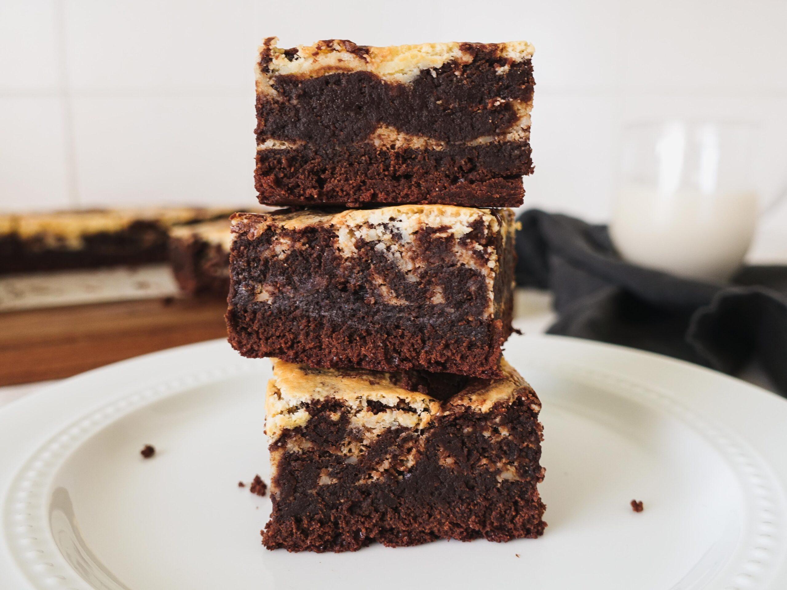 Gluten Free Cheesecake Swirl Brownies