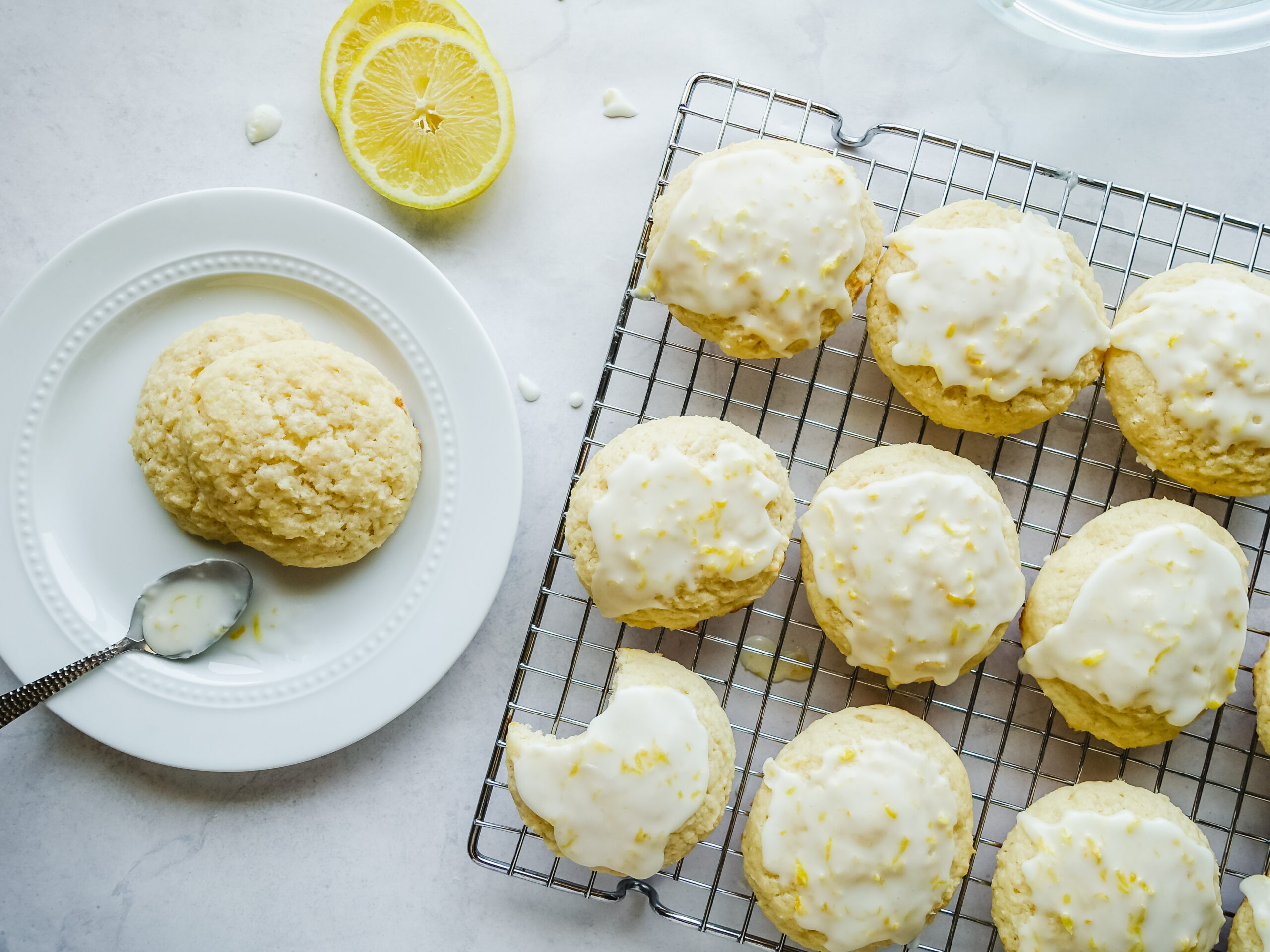 Super Soft Greek Yogurt Lemon Cookies