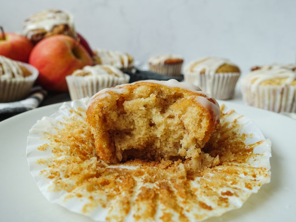 Cinnamon Swirl Apple Muffins || Life Above the Clouds