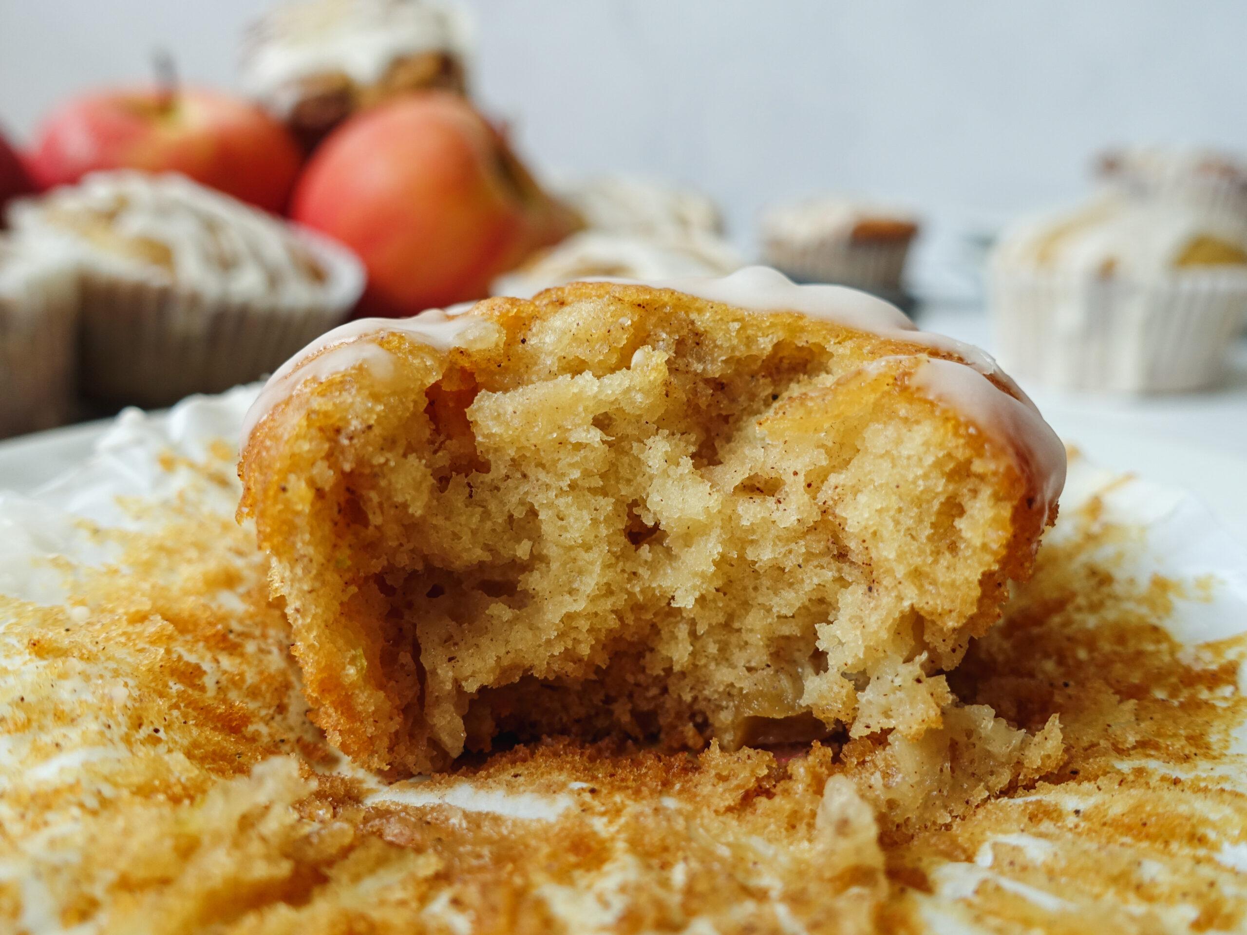 Cinnamon Swirl Apple Muffins