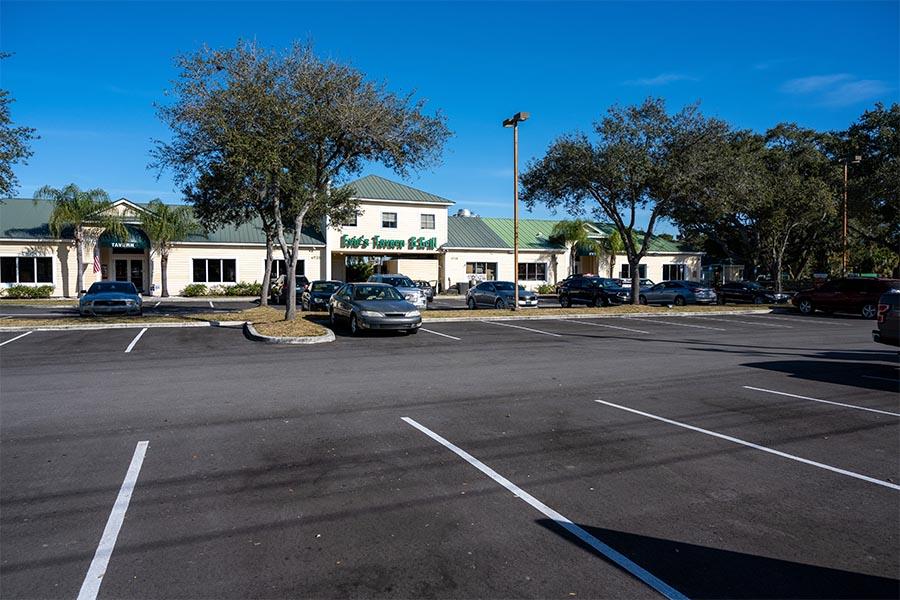 Sarasota parking lot resurfacing