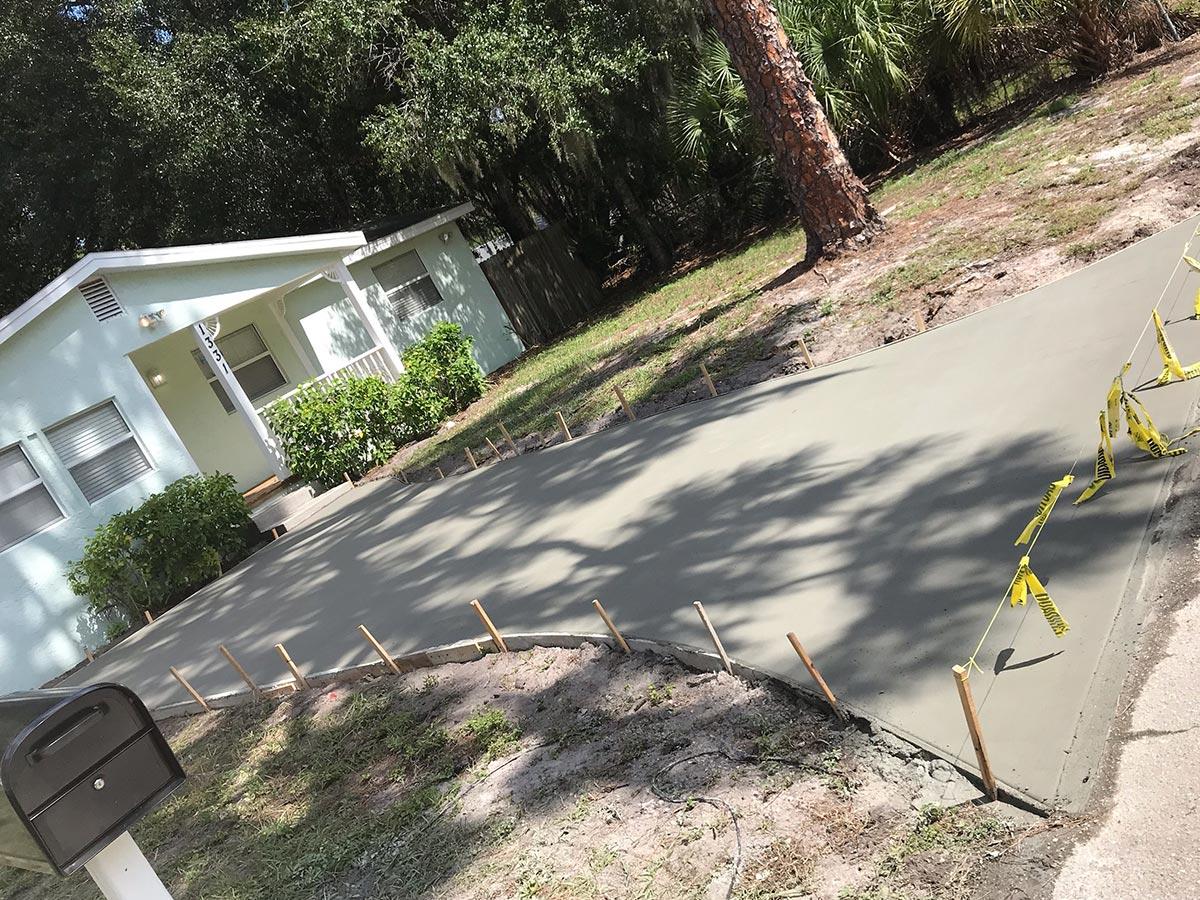 sarasota concrete driveway construction