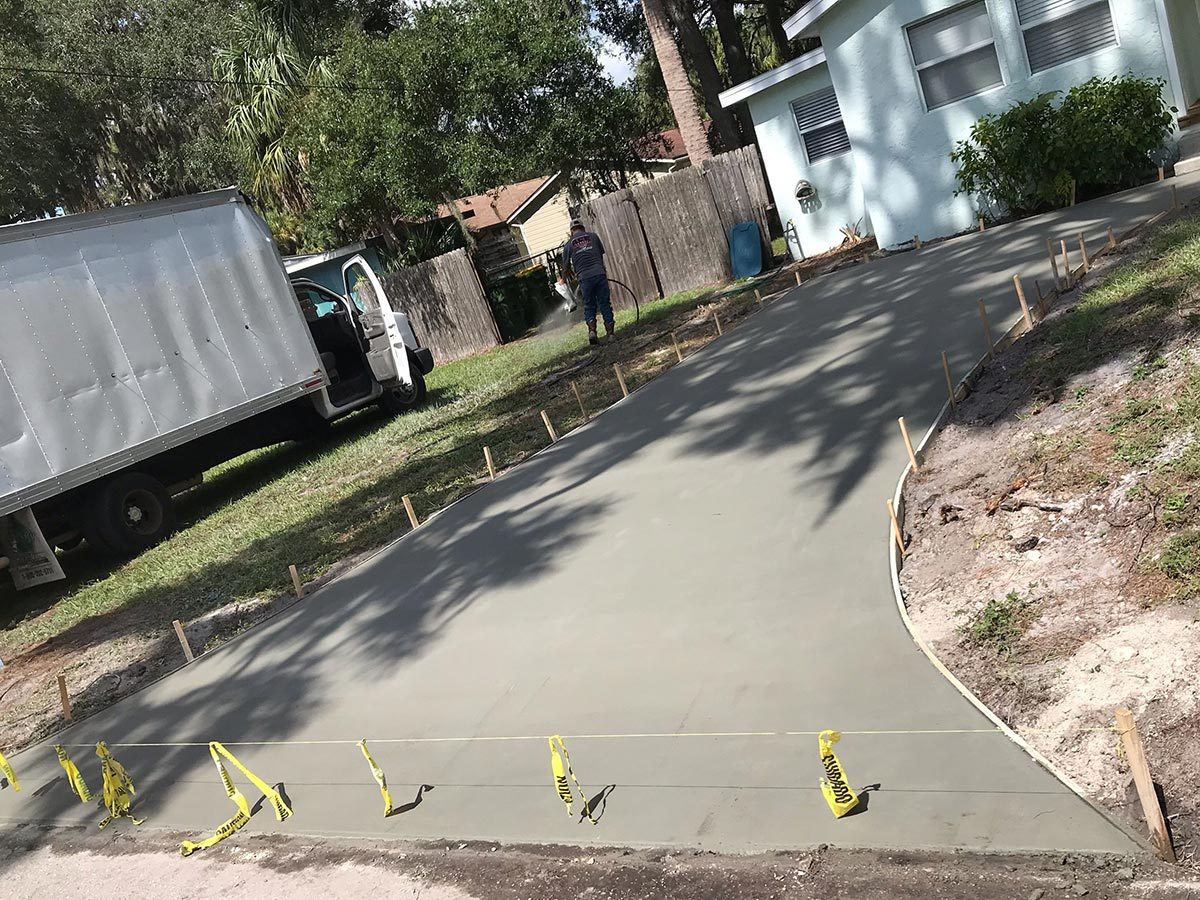 florida driveway parking lot construction
