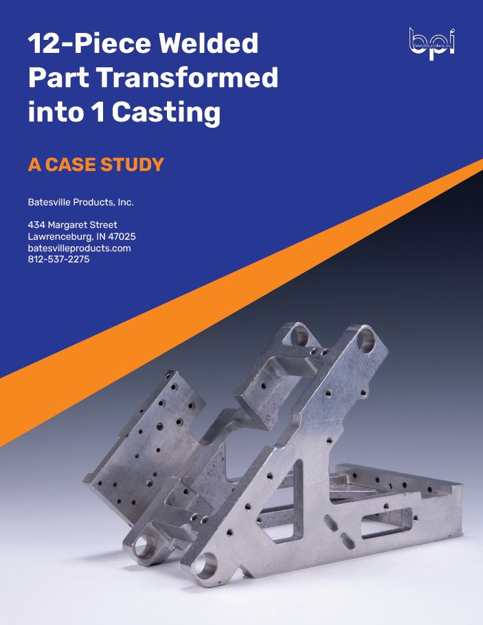 weldment transformed into casting