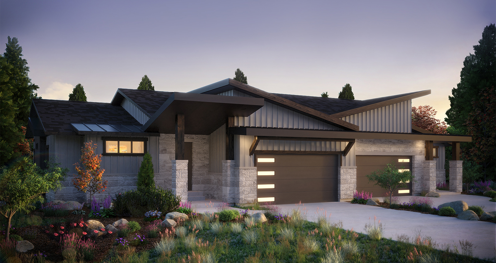 luxury townhome cascade model with garage